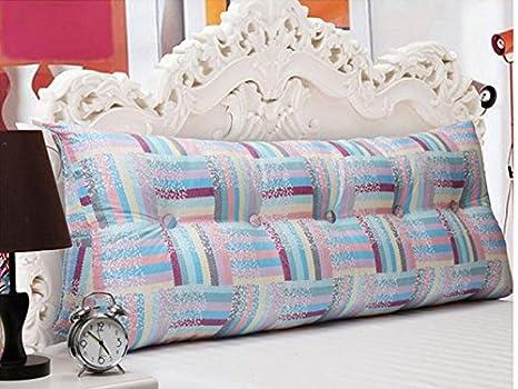YOTA HOME Bedside Rückenlehne Heimtextilien Kissen Baumwolle Dreieck Kopfstütze Kissen Sofa Kissen Zurück Entfernbar (Farbe : E, größe : 150 * 25 * 50cm)