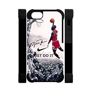 Hipster NBA Chicago Bulls Michael Jordan For Iphone 5/5S Cover Dual Protective Polymer Cases NIKE JUST DO IT Dunk
