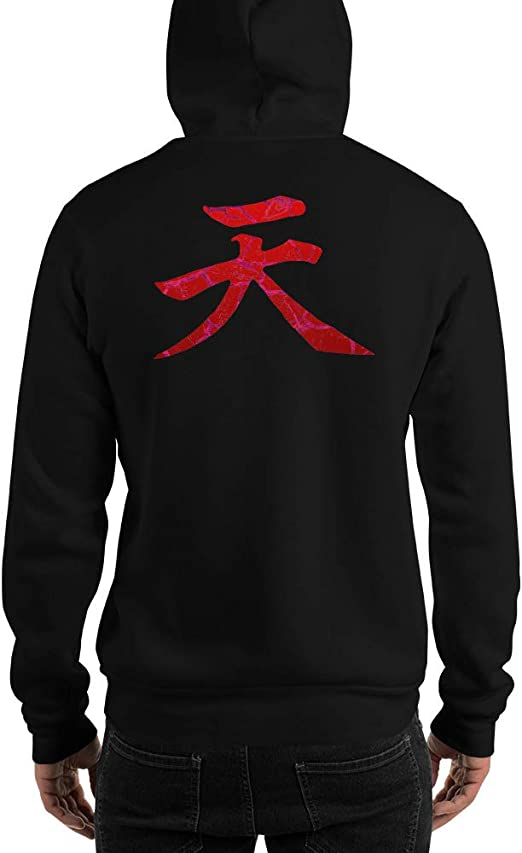 Raging Demon Akuma Heaven Kanji Street Fighter Unisex Hoodie At Amazon Men S Clothing Store