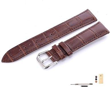 montre homme bracelet cuir marron croco