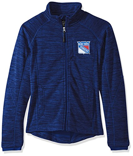 Licensed Zip Jacket Full (GIII For Her NHL New York Rangers Women's Hand Off Full Zip Jacket, Medium, Royal)