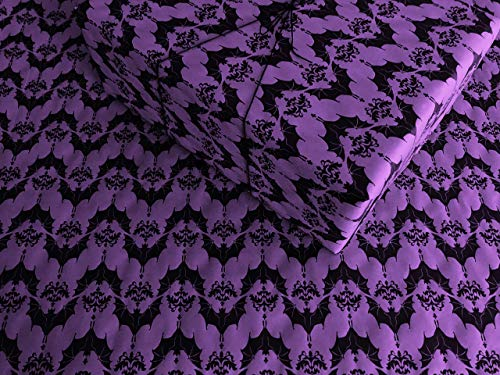 Baroque Bats on Purple Gothic Wrapping Paper - up to 8 Feet of Birthday Gift Wrap