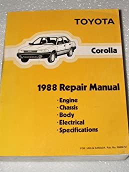 1988 toyota corolla repair manual ae92 series complete volume rh amazon com 1988 toyota corolla owners manual 1986 Corolla