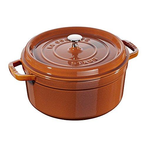 Staub Cast Iron 5.5-qt Round Cocotte - Burnt Orange