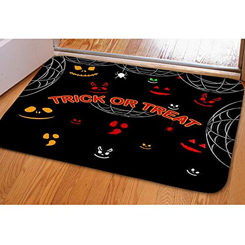 iBathRugs Door Mat Indoor Area Rugs Living Room Carpets Home Decor Rug Bedroom Floor Mats,Happy Halloween Scary Ghost face
