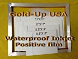 Waterproof Inkjet Transparency Film for Silk Screen 8.5'' x 11'' - 1 Pack (100 Sheets)