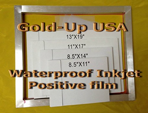 Waterproof Inkjet Transparency Film for Silk Screen 8.5'' x 11'' - 1 Pack (100 Sheets) by GoldUpUSAInc