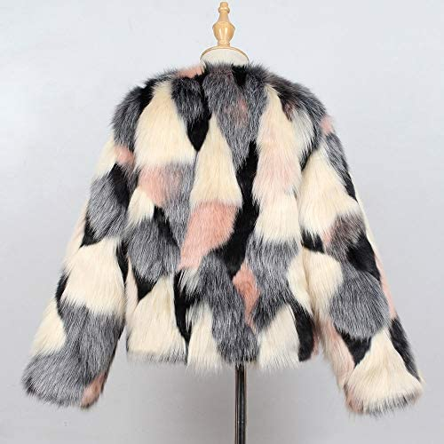 Winter Girls Coat,Fineser Stylish Kids Little Girl Faux Fur Thick Coat Outwear Warm Clothes Patchwork Long Sleeves 3 Colors