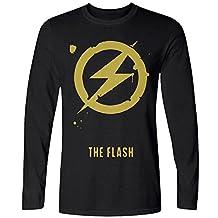 AIOYIO The Flash Minimlist Poster Men's Long Sleeve T Shirts