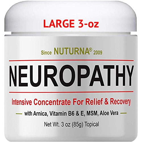 Neuropathy Nerve Pain Relief Cream – Maximum Strength Relief Cream for Feet, Hands, Legs, Toes Pain Reliever, Large 3 oz…