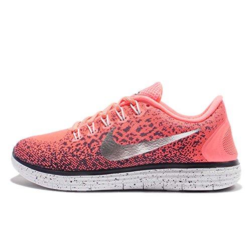 Wmns Mujer Nike Escudo Libre Rn Distancia, Mango Brillante / Plata Metálica, Nosotros 6.5