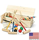 North Meadow Eastport 6-Player Croquet Set with Pine Storage Box