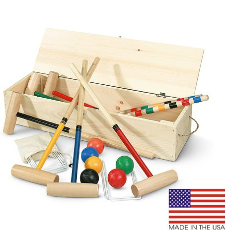North Meadow Eastport 6-Player Croquet Set with Pine Storage Box by North Meadow Croquet (Image #1)
