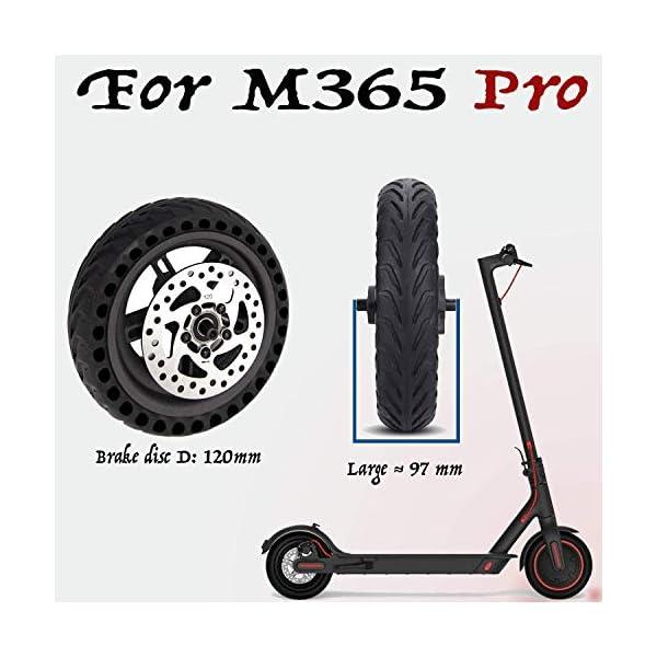 ELKATECH | Ruota piena Xiaomi M365 Pro | Pneumatico pieno M365PRO con mozzo e disco freno per monopattino elettrico | Increable grazie al Solid Tire | Accessorio compatibile con Mijia M365 Pro 2 spesavip