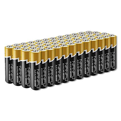 NANFU No Leakage Long Lasting AA 48 Batteries [Ultra Power] Premium LR6 Alkaline Battery 1.5v Non Rechargeable Batteries for Clocks Remotes Games Controllers Toys & Electronic Device ... (Best Long Lasting Aa Batteries)