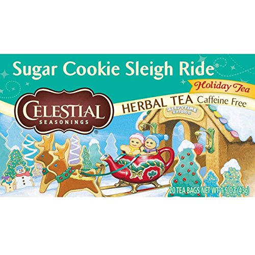 Celestial Seasonings Herbal Tea, Sugar Cookie Sleigh Ride, 20 Count (Pack of 6) - Day Sugar Cookies