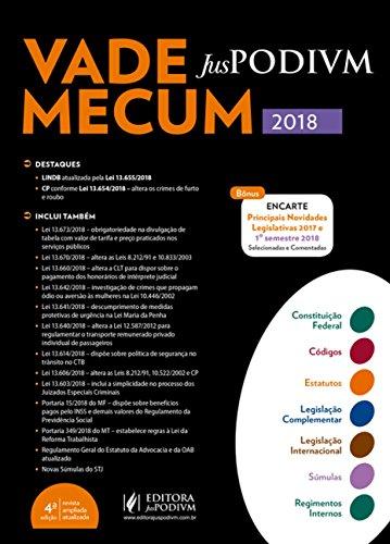 Vade Mecum Juspodivm 2018: Atualizado Até 25/06