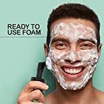 The Man Company Green Tea Foaming Face Wash with Neem – 100ml | Built -In Deep Exfoliation Face Brush | Purifies Skin…