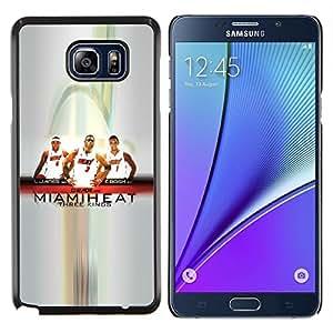- Miami Basketball Team - - Cubierta de la caja DIY Dise???¡Ào de encargo personalizada FOR Samsung Note 5 N9200 N920 Gaga Case