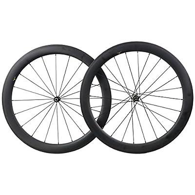 ICAN 50mm Carbon Road Bicycle Wheelset Clincher Tubeless Ready Rim Novatec AS511SB/FS522SB Hub Shimano Sram 10/11 Speed 1650g
