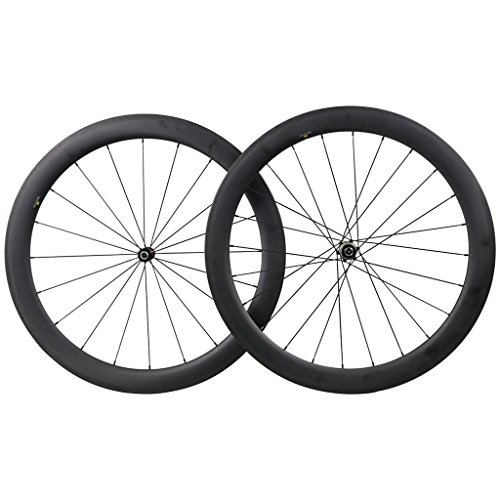 ICAN 50mm Carbon Road Bicycle Wheelset Clincher Tubeless Ready Rim Novatec AS511SB/FS522SB Hub Shimano 10/11 Speed 1580g