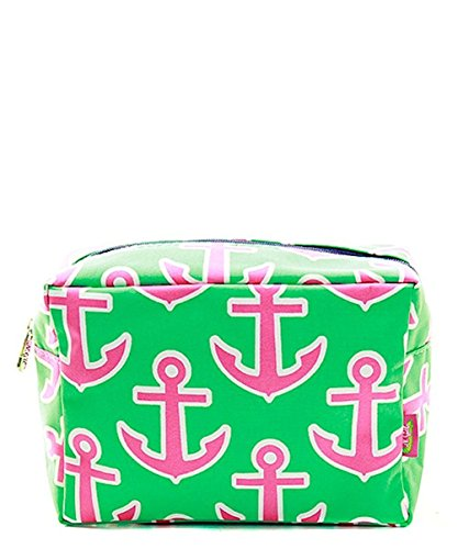 Footwear Lime - N. Gil Large Travel Cosmetic Pouch Bag (Anchor Lime Fuchsia)