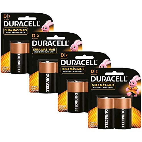 Kit Duracell Duralock Pilha Alcalina D com 8 unidades