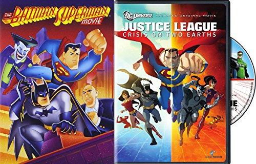 DC Universe Cartoons - Justice League: Crisis on Two Earths & The Batman Superman Movie 2-DVD Bundle