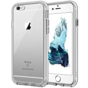 JETech Case for Apple iPhone 6 and iPhone 6s, Shock-Absorption Bumper Cover, Anti-Scratch Clear Back (Gray)