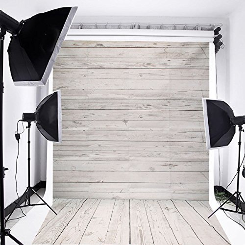Captivating MOHOO 5x7ft Photography Background Collapsible Photo Backdrops Silk White  Wood Floor Props For Studio (Update Material)