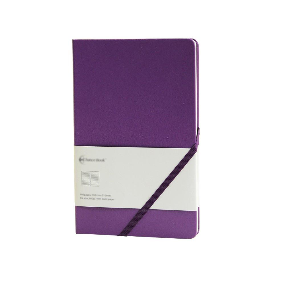LABONS 5.25 x 8.25 Pollici Taccuino A5 Foderato Diario Journals PU Pelle Copertina Rigida Elastico Slant Banded Diary Tasca Carta Espandibile Blu Scuro