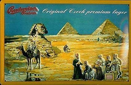 Budweiser Budvar Egipto Placa De Metal Cartel De Lata 20 x ...