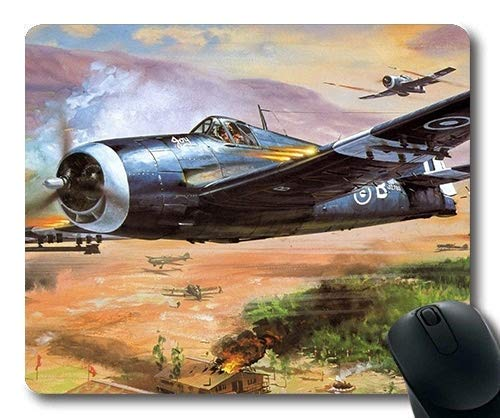 World war Aircraft,Large Gaming Mouse Pad,Fighter ex Layer Review,Mouse Pad with Stitched Edges