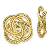 GLDQ001 14k Polished & Twisted Fancy Earring Jackets