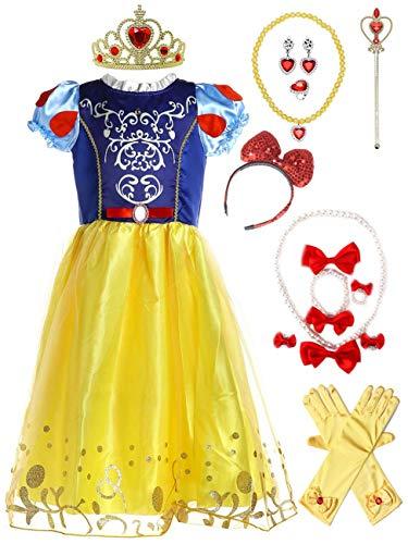 Little Girls Puff Sleeve Princess Dress Up Costume
