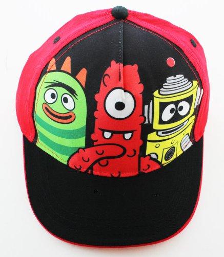 Animewild Yo Gabba Gabba Hat - Yo Gabba Gabba! Baseball Cap (Red & Black)