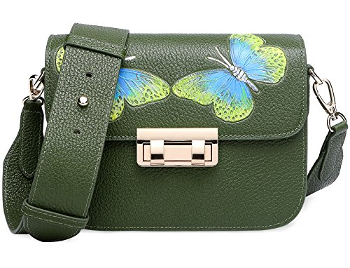 Women's PIJUSHI Purses Summer Leather Green Shoulder Genuine Bag Designer Bag CrossBody 8001 8003 qHHZt