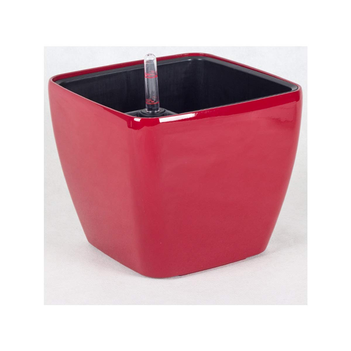 MUZIWENJU Creative Square Automatic Water-Absorbing Flower Pot, Office Desktop Flower Pot (Color : Red, Size : C) by MUZIWENJU