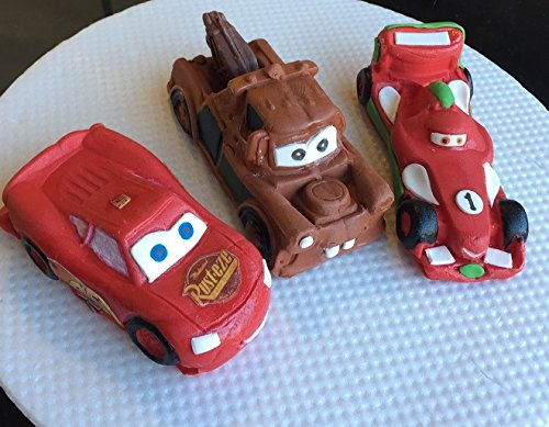 Large Edible Sugar Cars Lightning Mcqueen Mater Rip Formula