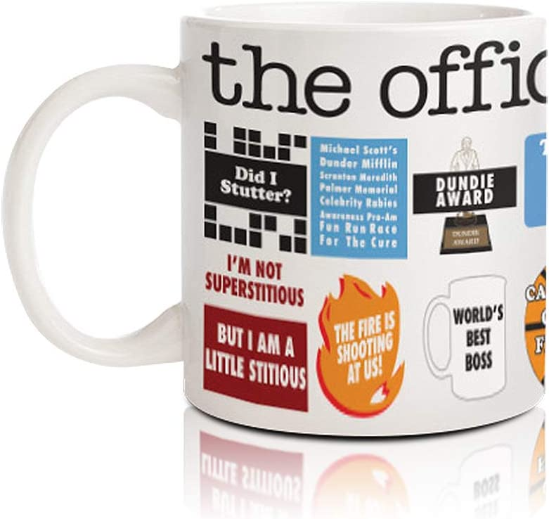 The Office White Ceramic Coffee Mug That Features Favorite Quotes, 20oz