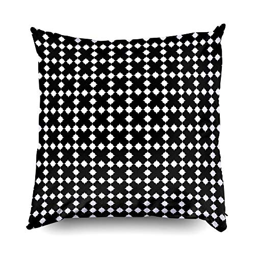 (Shorping Pillow Covers,18x18 Pillow Cover Decorative Pillowcase for Home Décor Cusion Covers Seamless Surface Pattern Design with Stars Ornament Polygons Abstract Background Octagons Wallpaper)