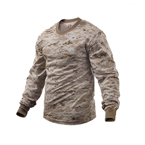 Army Woodland Forest Desert Digital Tiger Stripe Camo Long Sleeve T-Shirt Shirt