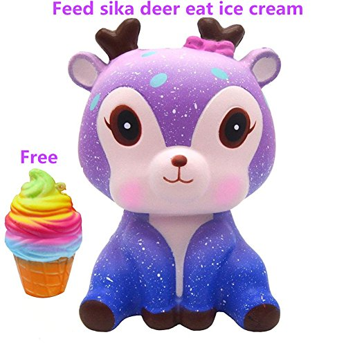 Uspeedy Cute Squishy Slow Rising Soft Squishy Charms Toy for Stress Relief and Time Killing (Z elk) Elks Animals