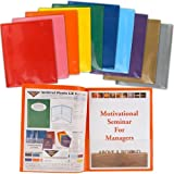 StoreSMART Plastic Archival Folders Rainbow Colors SIX 10-packs - 60 Folders - 6 Each of Ten Bright Colors (R900AST10-6)
