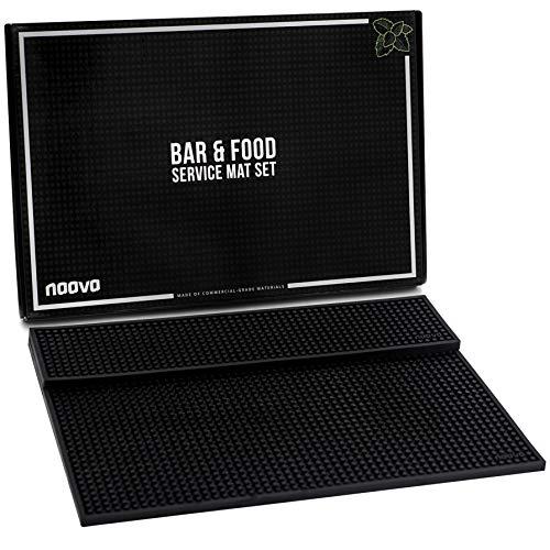 Logo Runner Mat - Bar Mat Set by Naava - Two Pro Quality Bartender Service Mats - 1 Bar Spill Mat 12