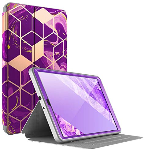 Popshine Marble Series Designed for Samsung Galaxy Tab A 10.1 2019 Case, Model SM-T510/T515, Full Body Premium 360…