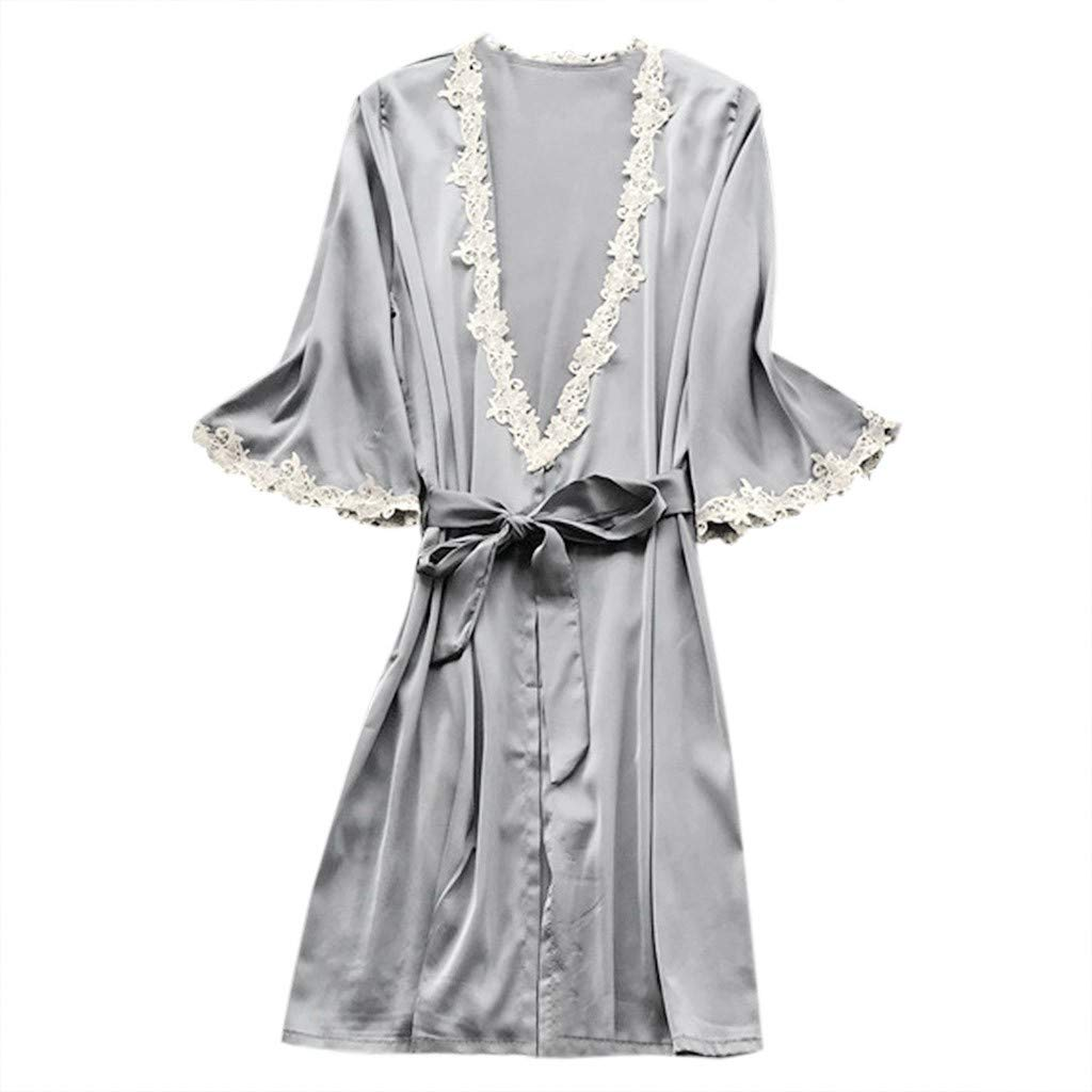 Women Sexy Lingerie Night Dress Satin Silk Sleepwear Pajamas Nightdress
