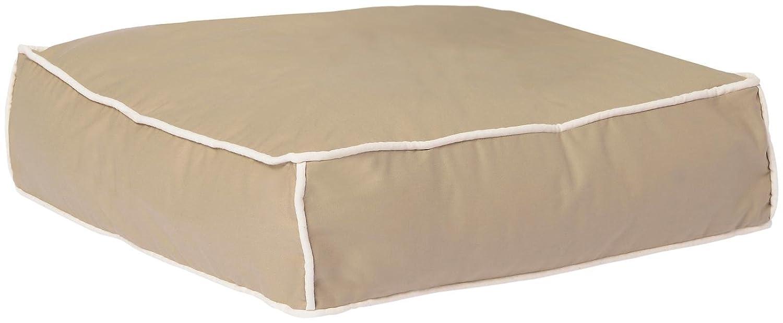 Waggo Benny Basic Square Dog Bed Small Khaki