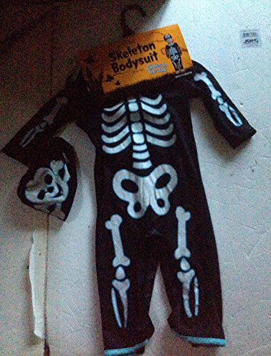 Baby Costumes In Walmart (Infants Skeleton body suit with hat glows in the dark)