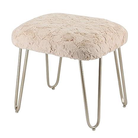 Phenomenal Amazon Com Dressing Stool Plush Stool Metal Vanity Stool Machost Co Dining Chair Design Ideas Machostcouk